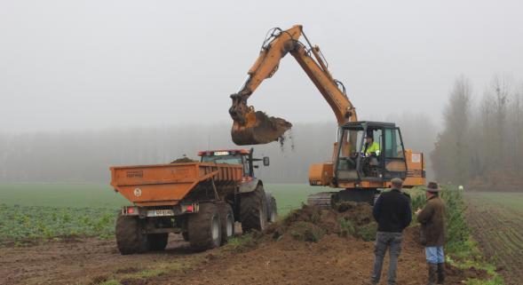 arasement de la digue de Varesnes Oise