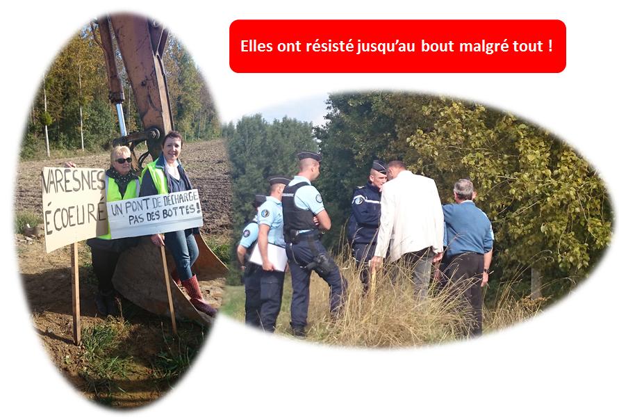 Presence des gendarmes a la manifestation de la digue a varenes oise