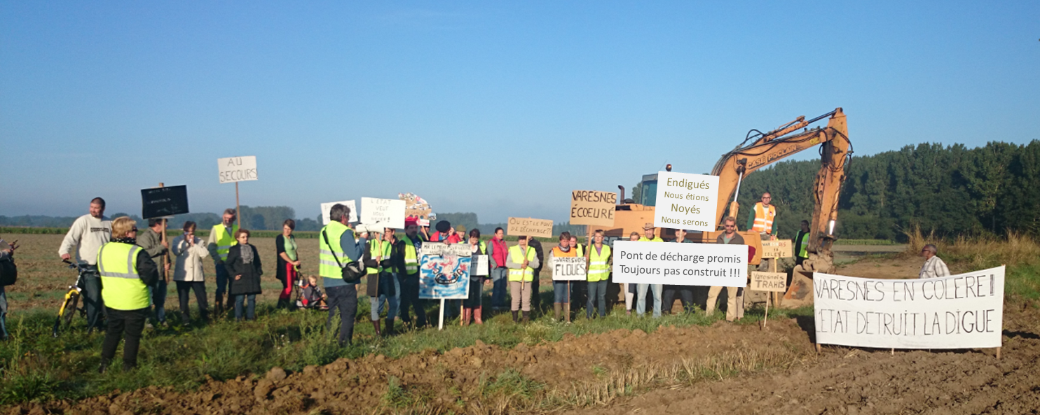 manifestation destruction digue varesnes oise picardie