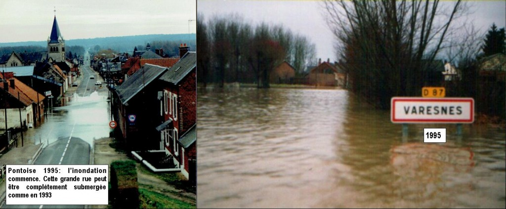 inondation Oise sur Pontoise-Varesnes