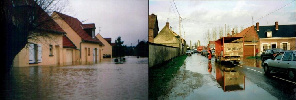 inondations Oise sur Pontoise et Varesnes