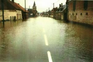 Inondation Pontoise Lès Noyon en 1993