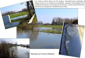 Varesnes-crues-Oise : Embâcles et pont de décharge