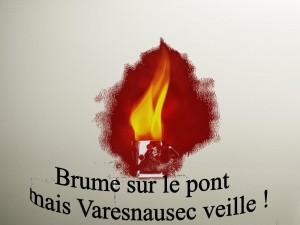 Oise inondations Varesnes : Malgré la brume, Varesnausec veille…
